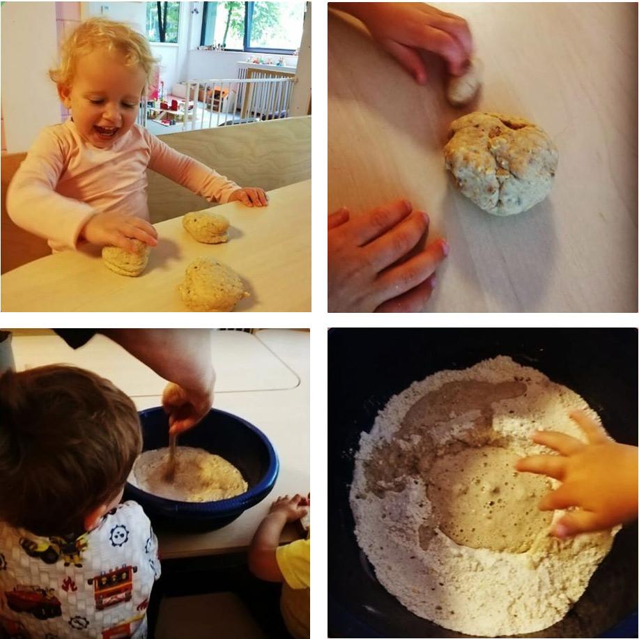 Brood bakken met peuters
